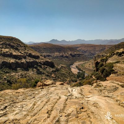 Rock paintings hike (Lesotho)